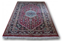 Ręcznie tkany dywan Bidjar 100% wełna 160x225cm Indie piękny perski wzór klasyczny czerwony