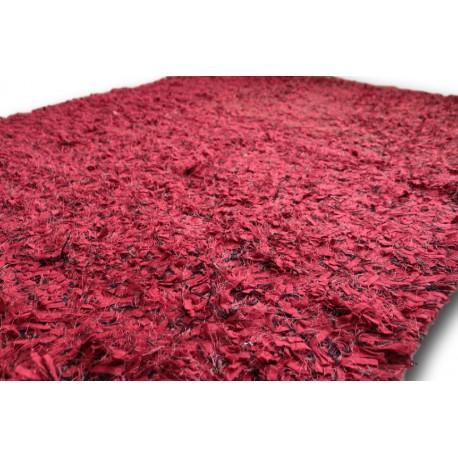 Mięciutki dywan shaggy czerwienie wełna i poliester 160x230