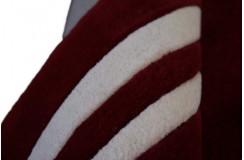 Dywan wełniany 150x240cm nowoczesny gładki czerwony Indie reczny tafting