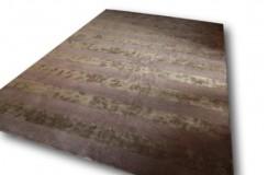 Brazowy dywan w pasy Brink & Campman 250x350cm przecena wełn i wiskoza