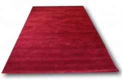 Cieniowany nowoczesny 100% wełniany dywan w czerwieni 2x3m promocja