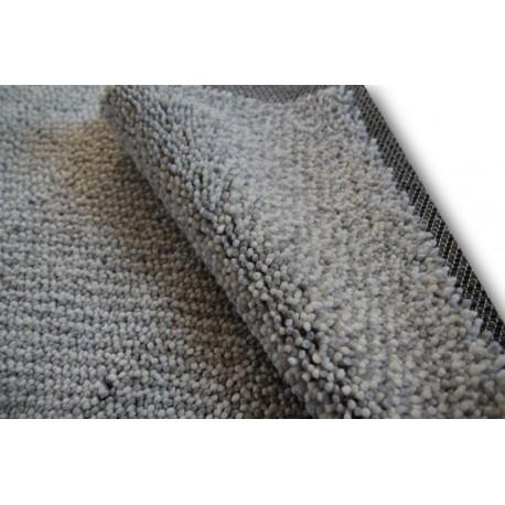 Nowoczsny dywan shaggy Designers Guild 250x250cm szary/kremowy 100% wełna kwadratowy