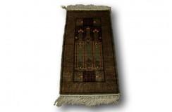 Chiński jedwabny dywan 130 line gęsto tkany modliewnik z jedwabiu naturalnego 48x95cm