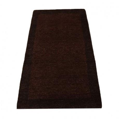 Brązowy dywan gabbeh twist 70x140cm gadki wełna argentyńska piękny wzór