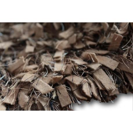 Puszysty dywan shaggy z wełny filcowanej i poliesteru 165x235m Indie ręcznie tkany tanio nasycony ciepły brązowy