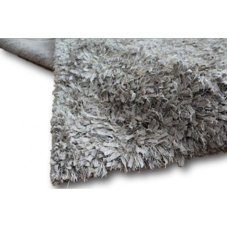 Puszysty dywan shaggy z wełny filcowanej i poliesteru 165x235m Indie ręcznie tkany tanio zielony