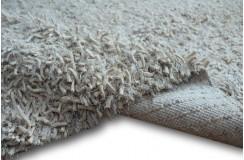 Gruby dywan shaggy z wełny filcowanej i poliesteru 165x235m Indie ręcznie tkany tanio jasny ecru