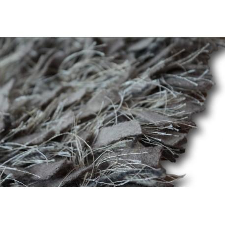 Piękny dywan shaggy z wełny filcowanej i poliesteru 165x235m Indie ręcznie tkany tanio beżowe pasy