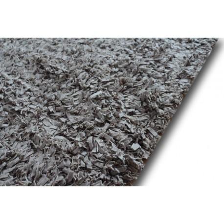 Piękny dywan shaggy z wełny filcowanej i poliesteru 165x235m Indie ręcznie tkany tanio jasny brąz