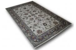 Beżowy dywan kwiatowy Persian z Indii 155x245cm 100% wełna