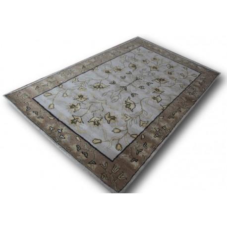 Pastelowy kolorowy tradycyjny dywan indyjski z perskim motywem 155x245cm
