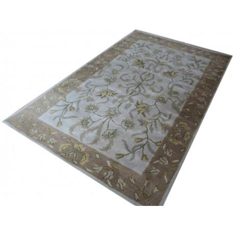 Fioletowo-brązowy dywan persian z Indii 155x245cm ręcznie tkany