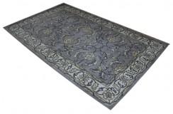 Szary indyjski dywan w palmety i pnącza kwiatowe klasyczny ok 160x230cm