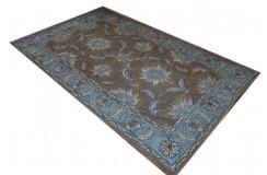 Brązowy oryginalny dywan Persian Ziegler 100% wełna owcza Indie