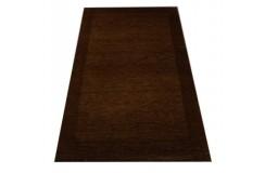 Czekoladowy piękny dywan Gabbeh z wełny argentyńskiej wysoka jakość 90x160cm Indie