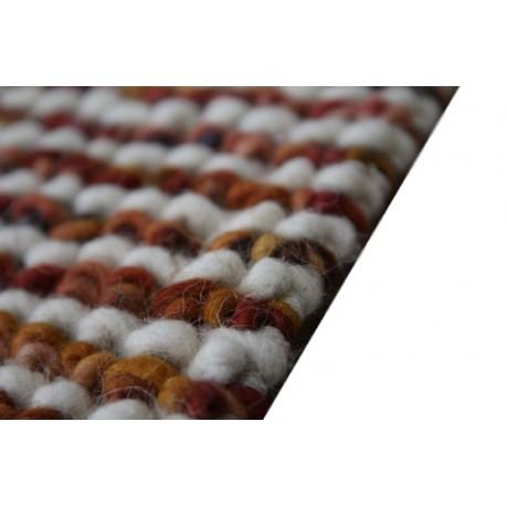 Designerski dywan z wełny filcowanej ręcznie tkany Indie 170x240cm