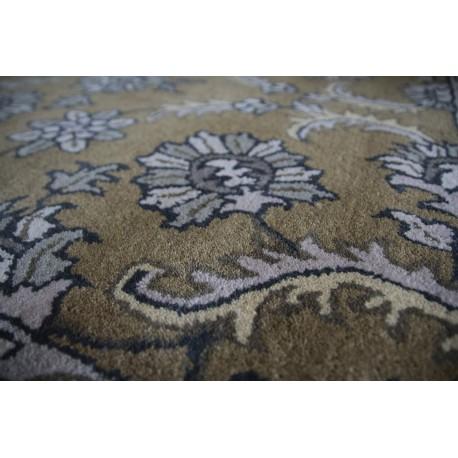 Kwiatowe palmety - tradycyjny ręczny dywan Indyjski 155x245cm wełna 100%