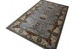 Przepiękny bogaty kwiatowy dywan tradycyjny z Indii 100E wełna 155x245cm