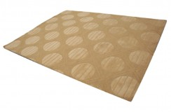 Żółty nowoczesny dywan wełniany 245x300cm ręcznie tkany z Indii 2cm gruby geometryczny
