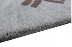 Gruby indyjski szaro-niebieski dywan wełniany 240x300cm nowoczesny wzór