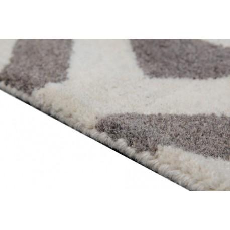 Beżowo-brązowy nowoczesny gruby dywan indyjski geometryczny 270x360cm