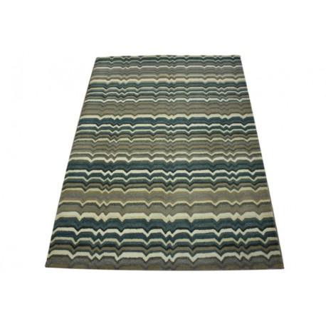 Nowoczesny szaro brązowo beżowy dywan piękny nowoczesny 160x230cm wełna owcza