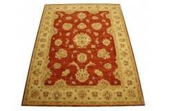 Czerwony, królewski ręcznie tkany dywan Ziegler Farahan z Pakistanu 100% wełna 155x206cm luksusowy!