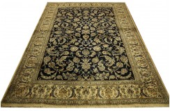 Nain 12la Kashmar gęsto ręcznie tkany dywan z Iranu wełna + jedwab ok 250x350cm granatowy majestatyczny