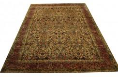 Jedyny bogty perski dywan Kerman Lawer 300x400cm 100% wełna 360000 węzłów/m2 beżowy