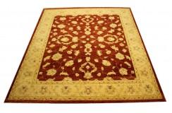 Bordowy oryginalny ręcznie tkany dywan Ziegler Farahan z Pakistanu 100% wełna 250x300cm ekskluzywny