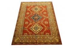 Jedyny dywan Kazak SUPER gęsto tkany piękny 100% wełna ręcznie tkany z Pakistanu ekskluzywny 146x208cm