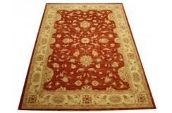 Czerwony oryginalny ręcznie tkany dywan Ziegler Farahan z paksitanu 100% wełna ok 170x240cm ekskluzywny