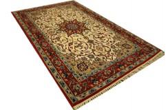 Isfahan - tradycyjne kwiatowe dzieło sztuki z IRANU 100% WEŁNA oryginalny cenny 68x110cm