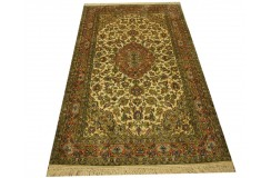 Indyjski dywan ręcznie tkany z czytego jedwabiu 90x160cm Jedwab naturalny