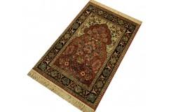 Indyjski dywan ręcznie tkany Kaszmir z czytego jedwabiu 77x117cm Jedwab naturalny motyw wnęki