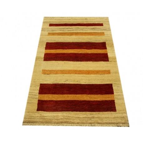 Niezwykły ręcznie gęstotkany dywan Loribaft Rizbaft Kaszkuli z Iranu 77x122cm