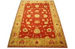 Czerwony oryginalny ręcznie tkany dywan Ziegler Farahan z Pakistanu 100% wełna 183x267cm ekskluzywny