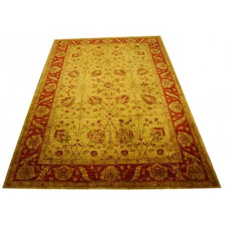 Miodowo-czerwony piękny dywan Ziegler z Pakistanu ręcznie tkany luksusowy 210x287cm