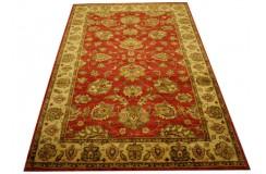 Czerwony oryginalny ręcznie tkany dywan Ziegler Farahan z paksitanu 100% wełna 188x276cm ekskluzywny