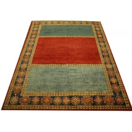 Jedyny dywan Kazak Royal gęsto tkany piękny 100% wełna ręcznie tkany z Pakistanu ekskluzywny 200x300cm geometryczny