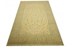 Nain 9la Habibian gęsto ręcznie tkany dywan z Iranu wełna + jedwab ok 200x300cm jasny beż