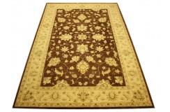 Brązowy eleganki Ziegler - dywan 100% wełnian gęsto tkany ręcznie w Pakistanie palmety ok 2x3m