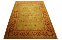 Zielony eleganki Ziegler - dywan 100% wełnian gęsto tkany ręcznie w Pakistanie postarzany 200x277cm