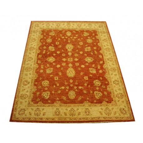 Ceglasty luksusowy dywan Ziegler oryginał wartościowy ręcznie tkany dywan 140x200cm