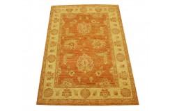 Ceglasty luksusowy dywan Ziegler oryginał wartościowy ręcznie tkany dywan 108x152cm