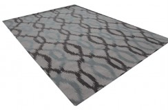 Elegancki nowoczesny salonowy dywan wełniany 270x360cm Indie ręczny i gruby