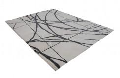 Nowoczesny wełniany dywan z Idnii ręcznie tkany ok 240x300cm zielono-niebieski z żółtym wzorem