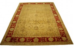 Dwukolorowy oryginalny ręcznie tkany dywan Ziegler Farahan z Pakistanu 100% wełna ok 300x400cm ekskluzywny