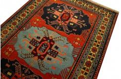 Kaukaski unkatowy gęsto tkany dywan Azerbejdżan Rosja 130x190cm pięky
