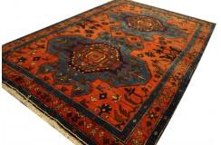 Kaukaski unikatowy gęsto tkany dywan Azerbejdżan Rosja 122x187cm kwiatowy medalion